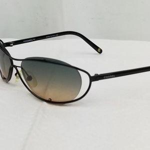 Chanel Black Acetate Gradient Lenses Sunglasses